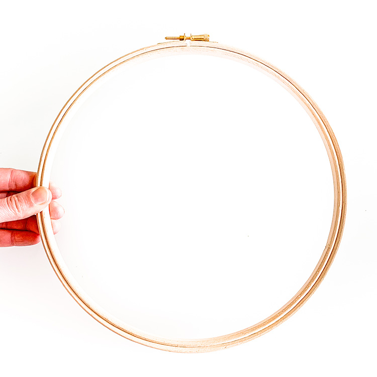 10 inch embroidery hoop wooden