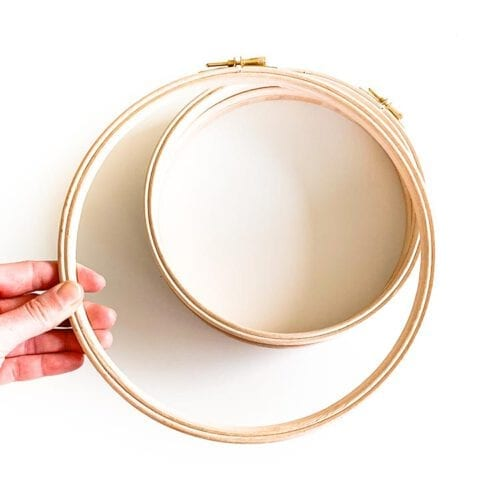 9 inch wooden embroidery hoop