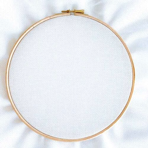 white aida 14 count cross stitch fabric