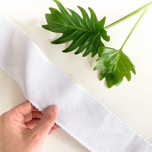 aida ribbon 7 cm white