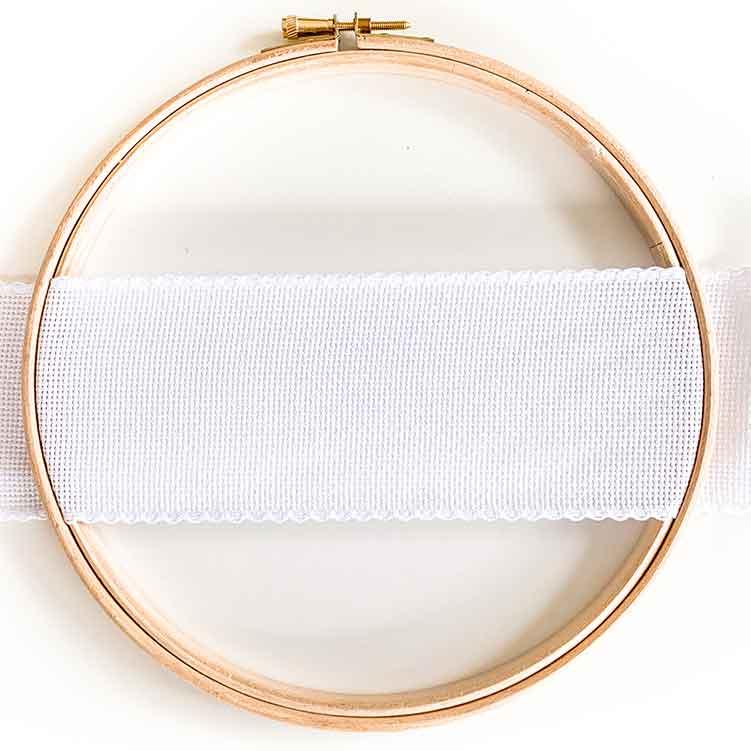 7 cm Aida Ribbon White
