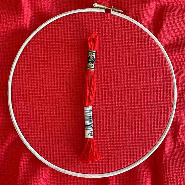 aida 14 christmas red cross stitch cloth