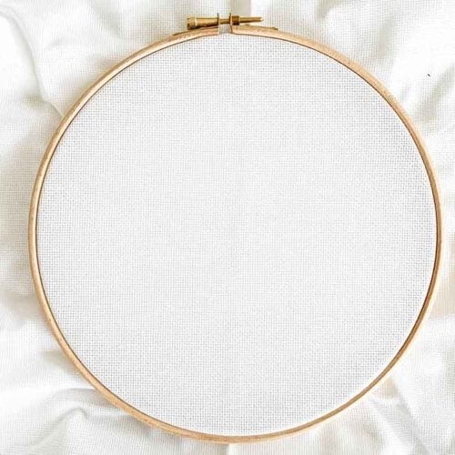 aida 20 count white cross stitch fabric
