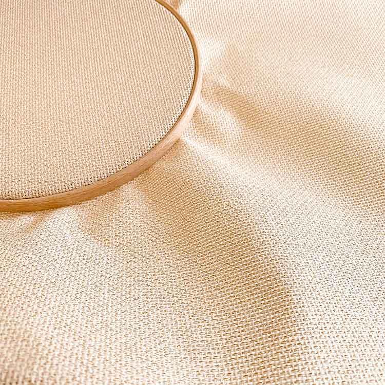 Sparkling gold aida 14 count cross stitch fabric