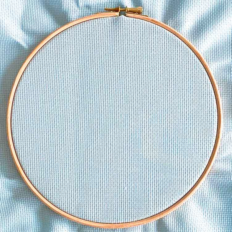 touch of blue aida 14 cross stitch fabric