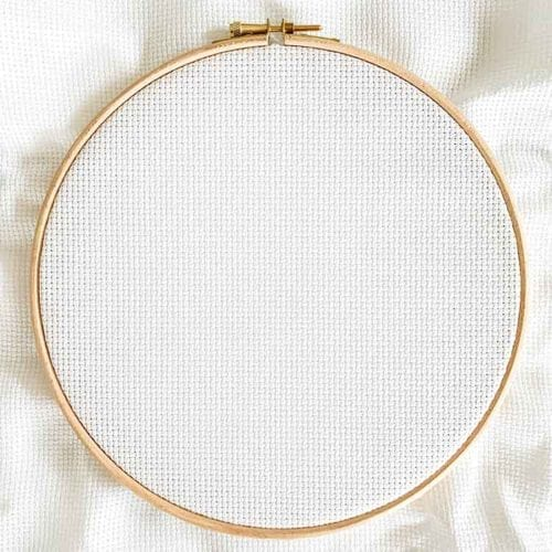aida 11 count white cross stitch fabric