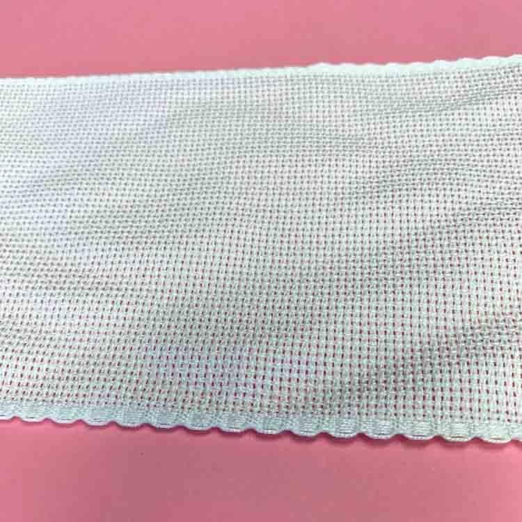 10 cm wide Cotton Aida ribbon