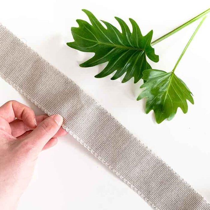 11274 linen aida ribbon 5 cm