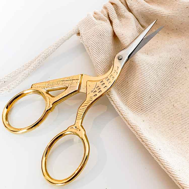 Stork Embroidery scissors
