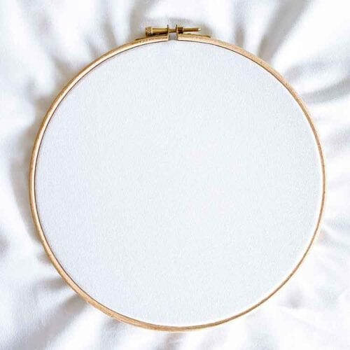 white embroidery canvas suitable for free hand embroidery and punch needle