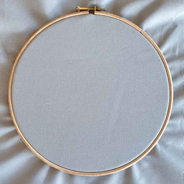 pearl gray ecological embroidery canvas