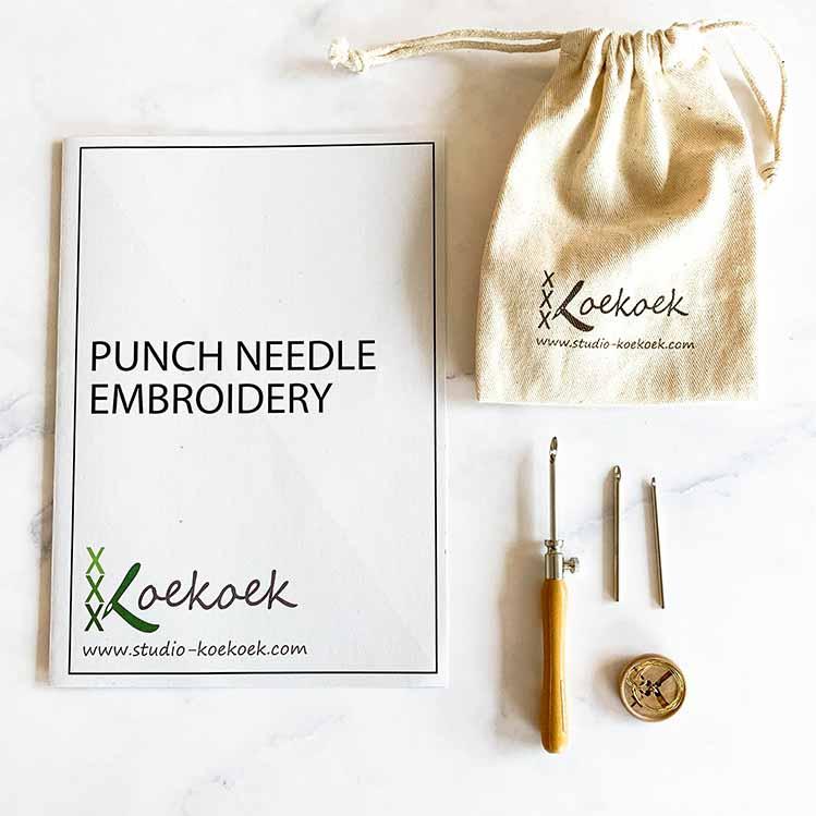 3 size punch needle set with instructions