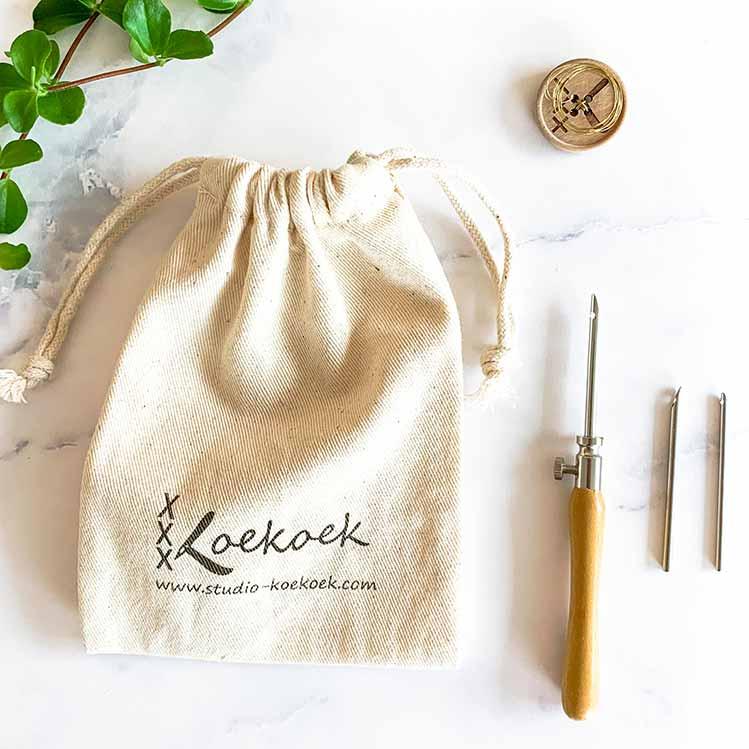 studio koekoek ecological punch needle adjustable yarn sizes