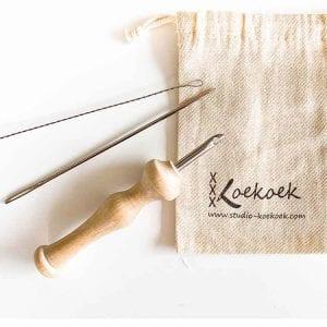 luxury wooden punch needle