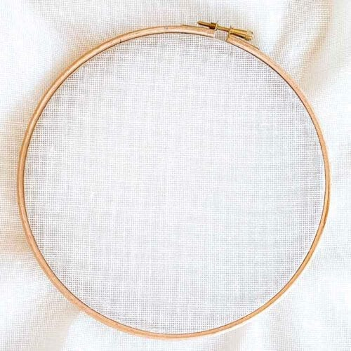 18 count evenweave linen cross stitch fabric