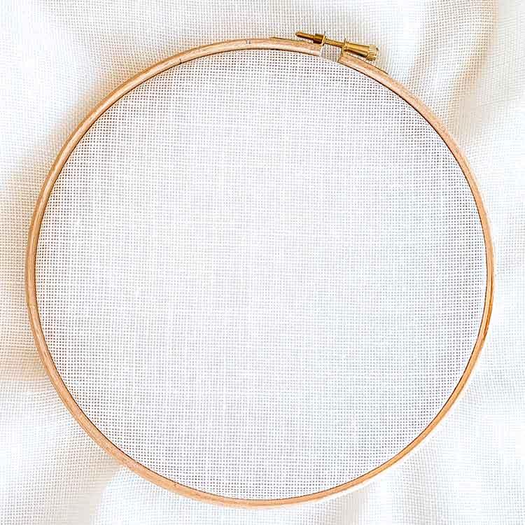 18 count evenweave linen cross stitch fabric