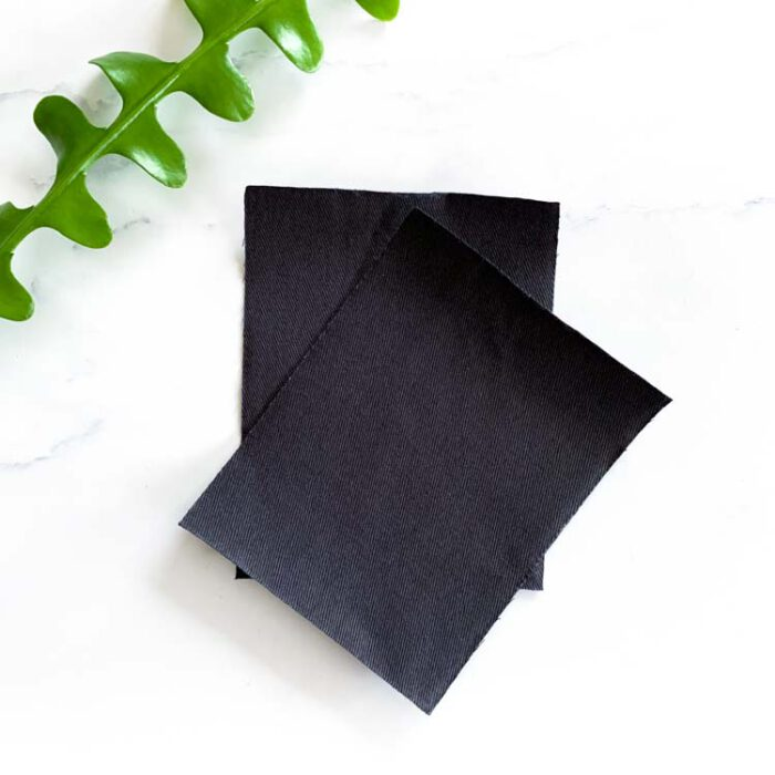 dark gray twill repair patch