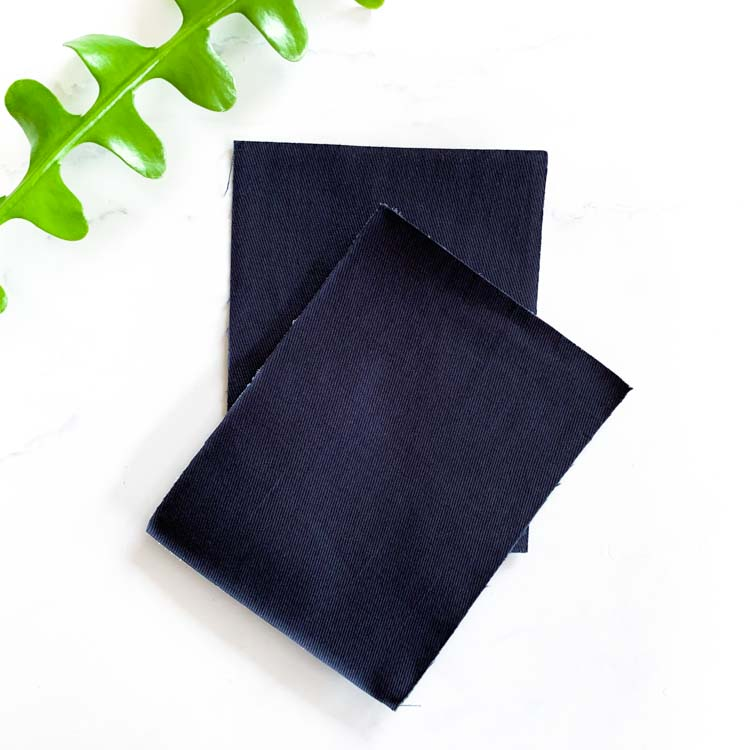 navy blue twill repair patch