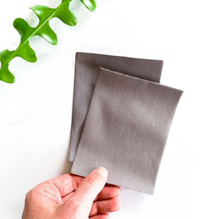 light gray twill repair patch