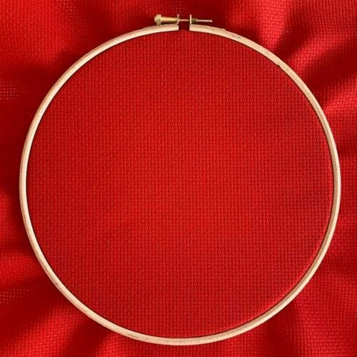 christmas red aida 11 cross stitch fabric