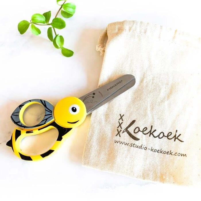 bee scissors for children
