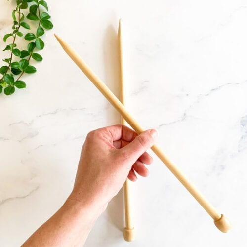 bamboo knitting needles 12mm