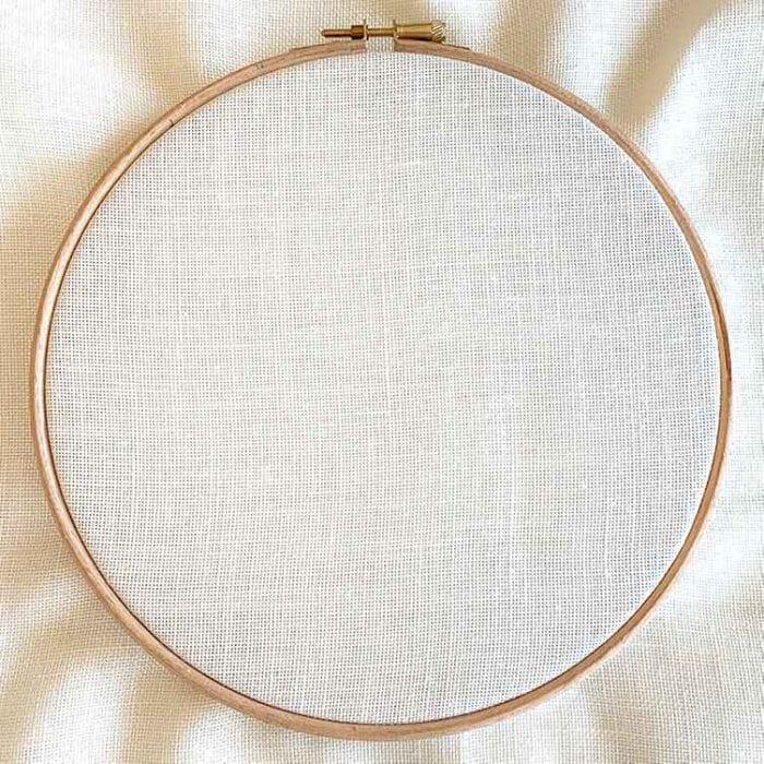 Punch needle linen fabric