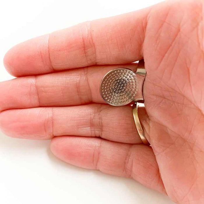 11385 sashiko ring thimble vingerhoed thumble