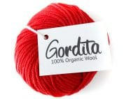 fire red chunky wool ecological gordita