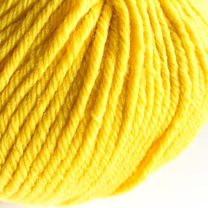 Gordita yellow ecological wool