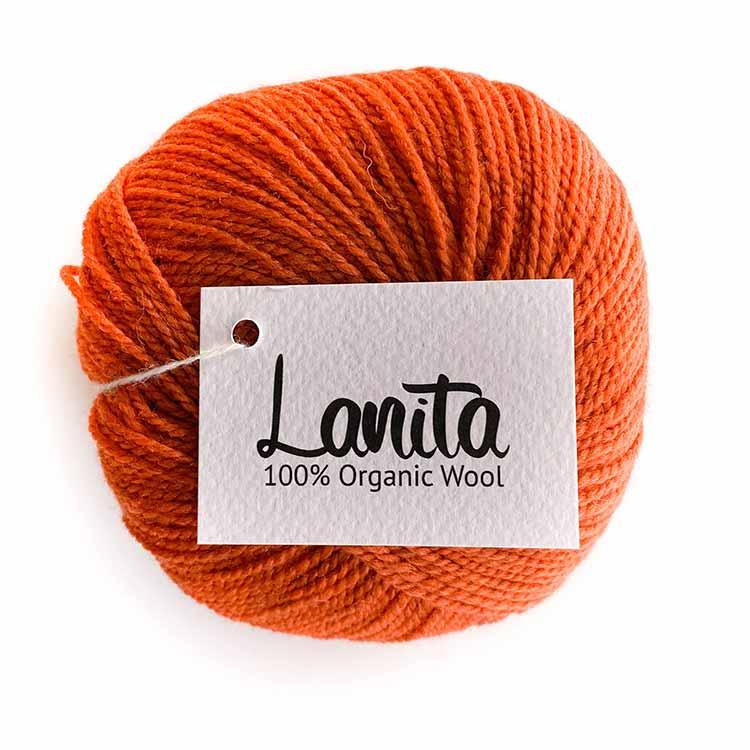 orange lanita ecological merino wool