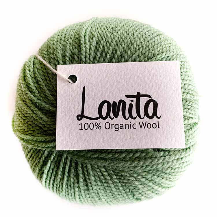 Fern green lanita ecological wool
