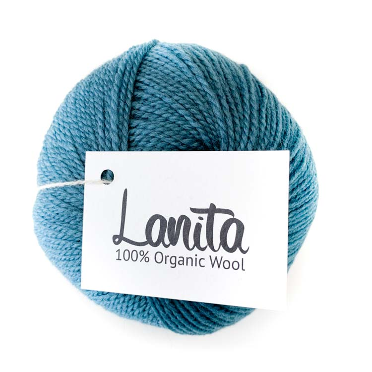 Turquoise ecological wool