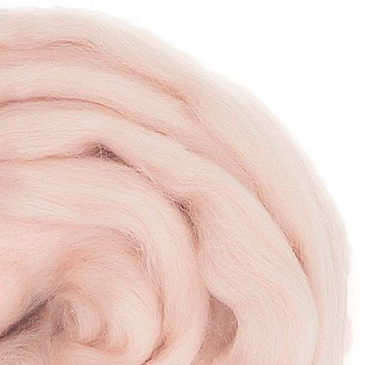 wool roving touch of pink