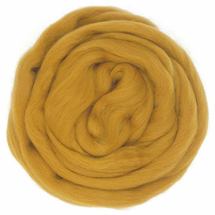 Ochre wool roving ecological merino wool from European sheep