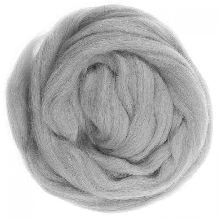 Gray ecological wool roving mix