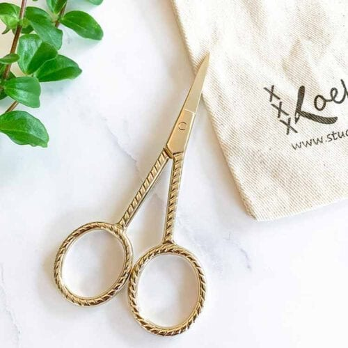 embroidery scissors ribbel gold
