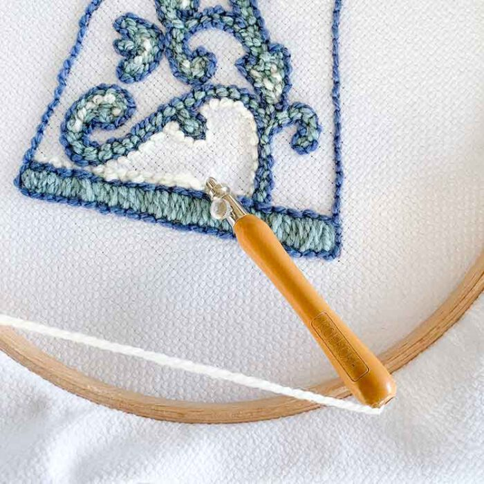 studio koekoek white ecological monks cloth gots certified extra fine for 3 size punch needle