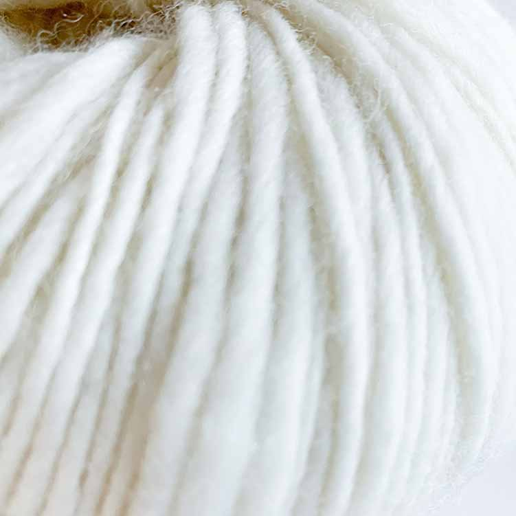 flamita white ecological wool for punch needle and kniting