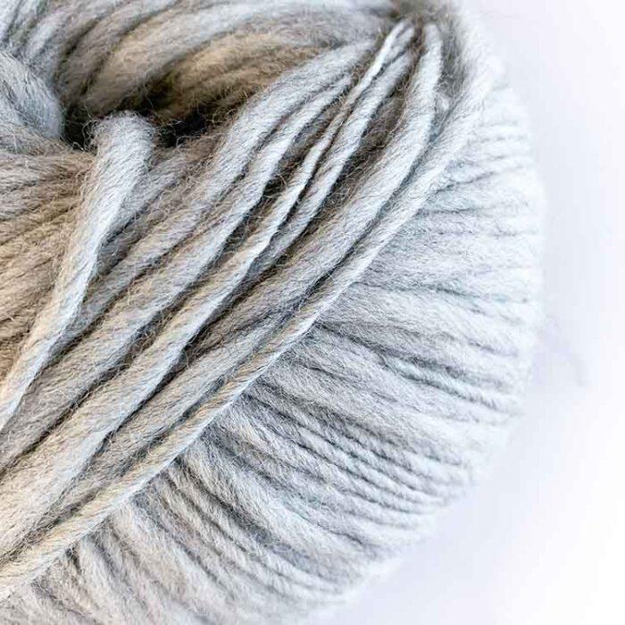 Flamita silver ecological wool