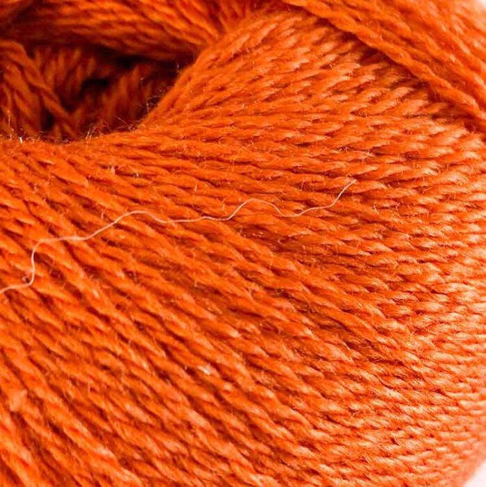 silky finita orange luxury hand knitting yarn