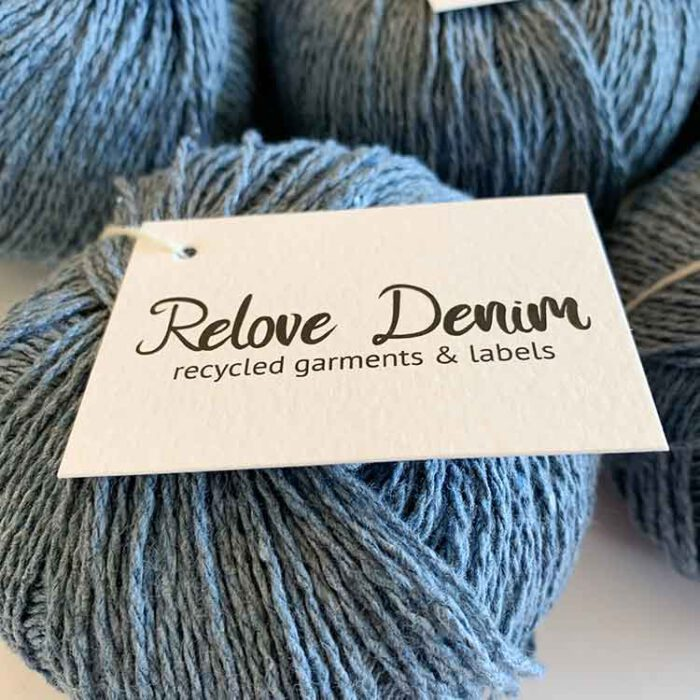 Relove denim blue recycled jeans yarn