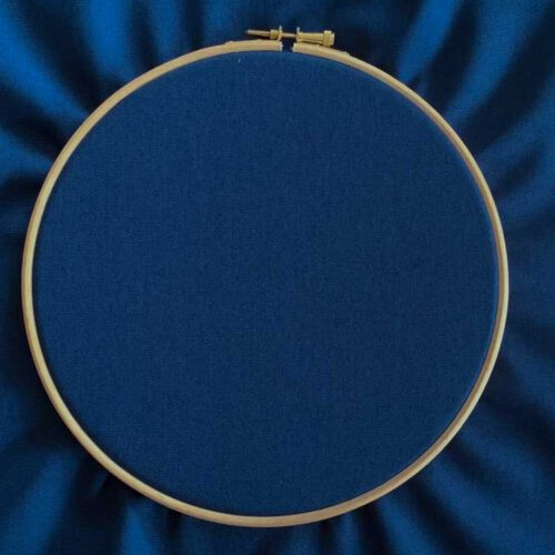 Midnight blue ecological canvas embroidery fabric