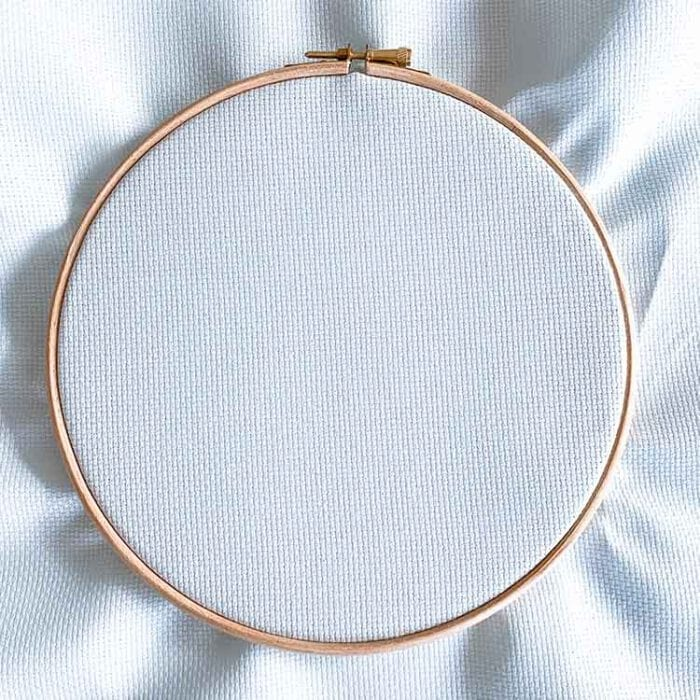 soft blue aida 14 count cross stitch fabric