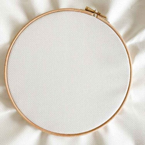 Antique white aida 14 count cross stitch fabric