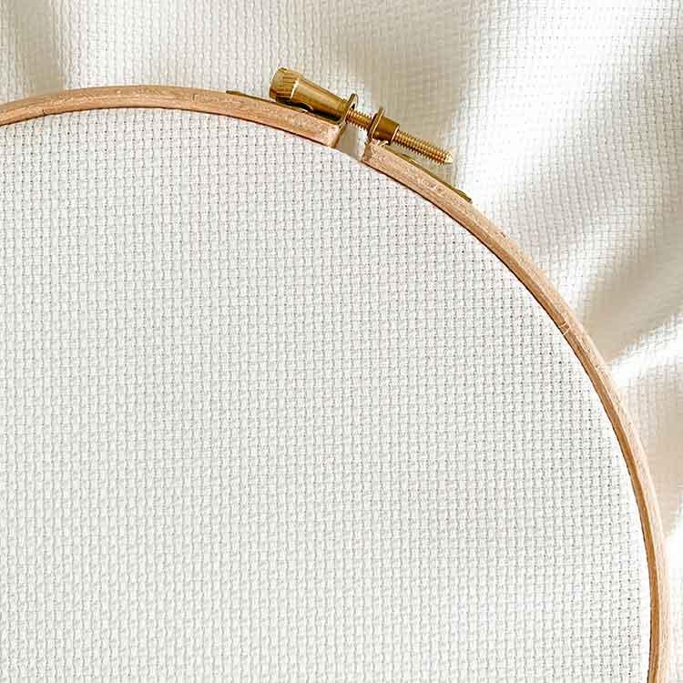 Antique white aida 14 count cross stitch fabric
