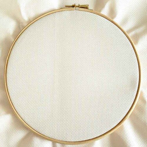 ecru cross stitch fabric
