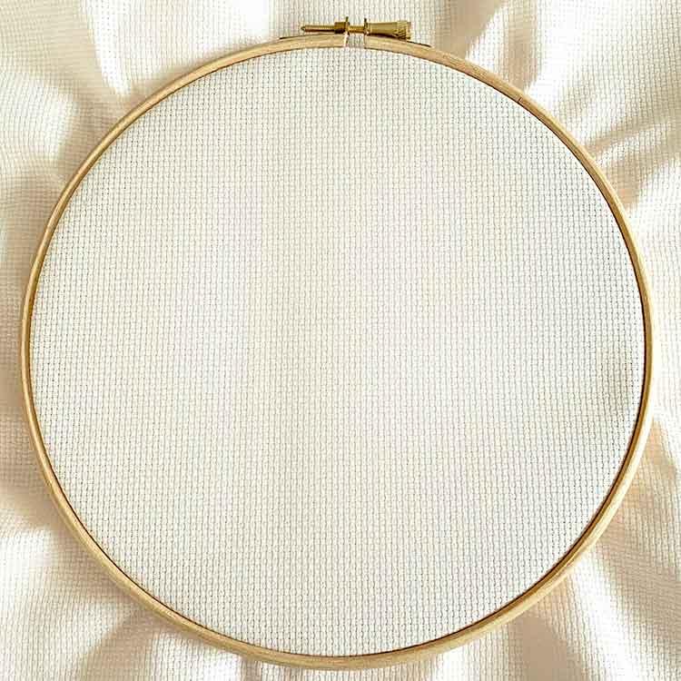 ecru cross stitch fabric