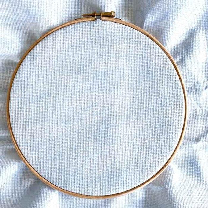 Blue clouds aida 14 cross stitch fabric