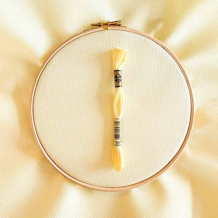 aida 14 yellow lemon cross stitch fabric